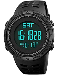 Men Digital Sports Watch, Military Multifunction Outdoor Electronic Waterproof Wrist Watch Fashion Resistant Casual Watchs