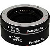 Fotodiox Automatic Macro Extension Tube Kit with Auto Focus and TTL Auto Exposure for Fujifilm X-Mount Mirrorless Camera System