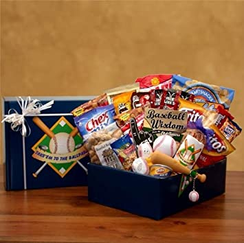 Baseball Fanatic! Baseball Themed Gift Basket: Amazon.com: Grocery ...