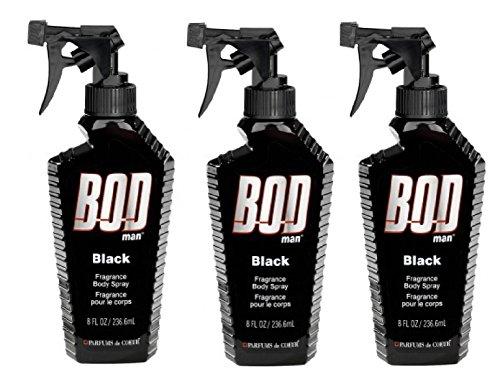 Bod Man – Mens Body Spray – Black – Pack of 3