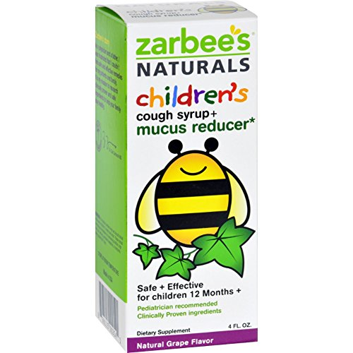Zarbee's Naturals Children's Mucus Relief + Cough Syrup Grape 4 Oz (Relief Syrup)
