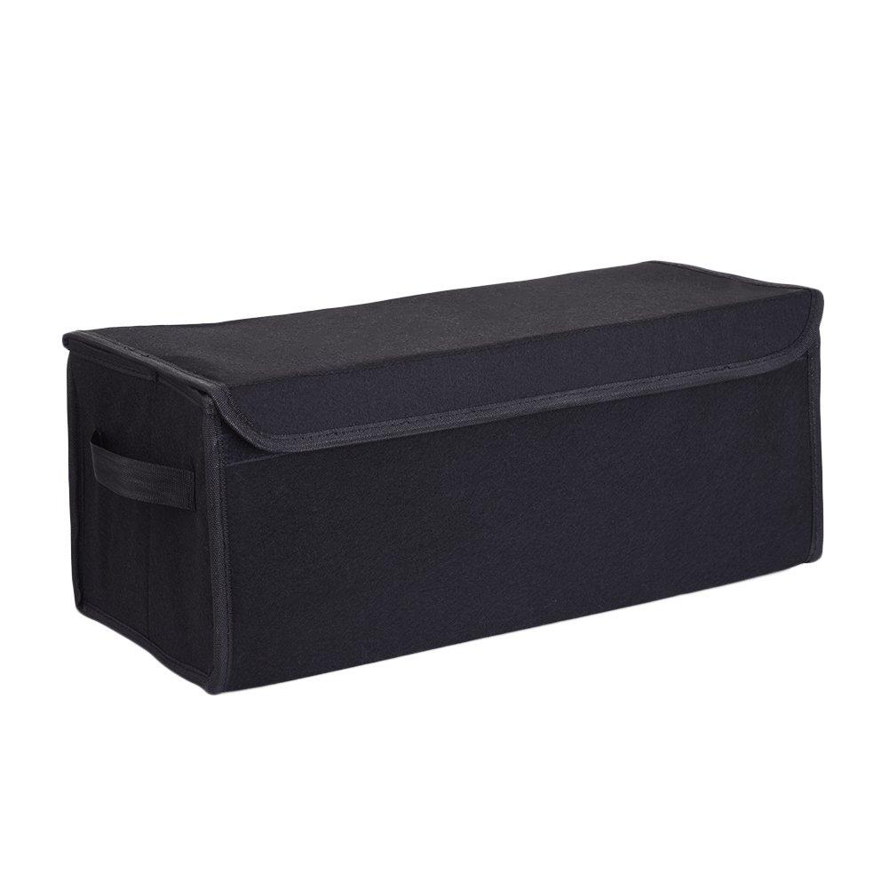 Organisateur Voiture Coffre, Pliable Sac de Rangement Coffre Voiture Auto Noir par kati-way (47 * 20,5 * 19,5 cm)