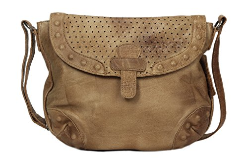 Greenburry Stainwashed Borsa a tracolla pelle 30 cm Clay