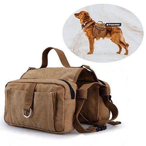 Originalidad Dog Pack Hound Travel Camping Hiking Backpack Saddle Bag Rucksack for Medium & Large Dog by Originalidad