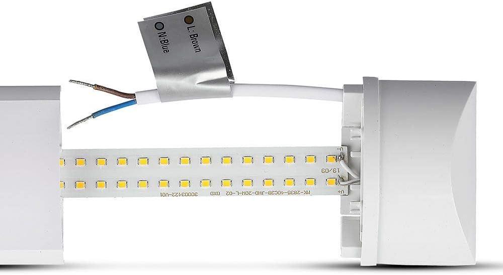 LED Batten Light Slim 1FT 10W Ceiling Fitting Low Profile 6500K 30CM LEDBRITE
