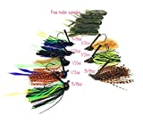 Best Bass Fishing,Jig Kit with Strips like Live Bass Jig Trailers , (Bass Jigs KIt A)