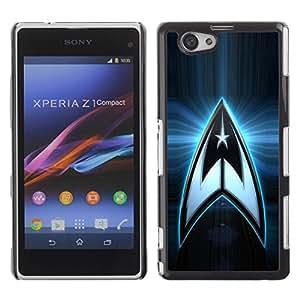 Be Good Phone Accessory // Dura Cáscara cubierta Protectora Caso Carcasa Funda de Protección para Sony Xperia Z1 Compact D5503 // Star Crew Space Logo