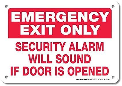 Salida de emergencia sólo alarma sonará si puerta se abre ...