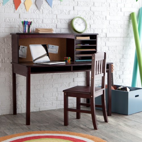 Kids Media Desk & Chair Set - Espresso