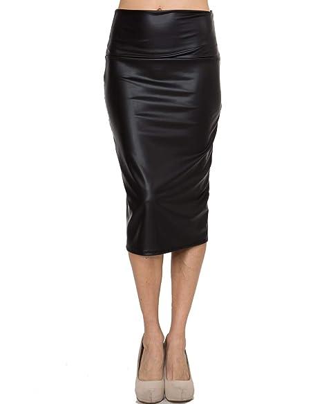 193d04cc29 Bold And Beautiful Women's Knee Length Pencil Skirt - High Waisted Midi -  Office Wear -