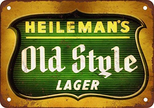 - Heileman's Old Style Lager Vintage Look Reproduction Metal Tin Sign 8X12 inches