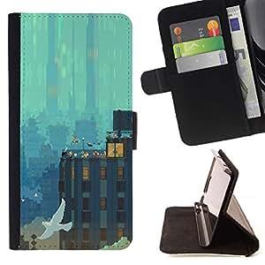 Momo Phone Case / Flip Funda de Cuero Case Cover - Pixel Paisaje urbano;;;;;;;; - Sony Xperia Z3 D6603