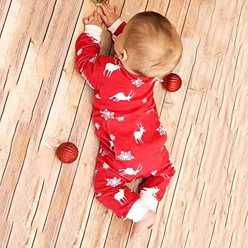 Barboteuse Christmas Hiver Fille Bébé Angelof De Imprimé Noel Flocons Vetement Elk Grenouillères Pyjama Rouge Accessoires Cadeau Deguisement q8qFg