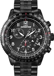 Timex Uhr Uhren - Reloj unisex de cuarzo, correa de acero inoxidable color varios colores (con cronógrafo)