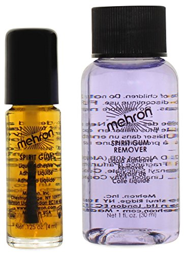 Mehron Makeup Spirit Gum and Spirit Gum Remover Combo set (.125 oz)
