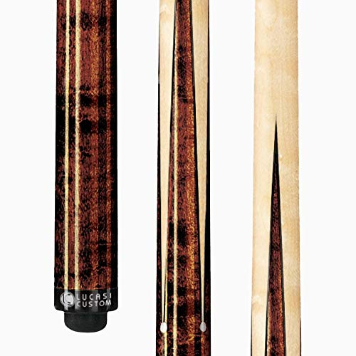 Lucasi Custom Birds-Eye Maple Sneaky Pete Pool Cue with Upgraded Shaft, 20-Ounce (Pearl Pool Stick)