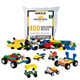 Toys : 400 Piece Wheels, Tires, and Axels Set - Building Brick Compatible Play Kit