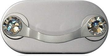 MAG-B magnetic eyeglass holder (polished stainless steel with original Swarovski crystals)