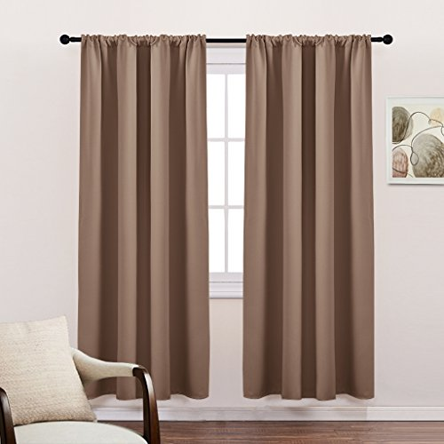 PONY DANCE Nursery Window Blackout Curtain Panels - Room Darkening Rod Pocket Thermal Insulated Curtains Energy Saving for Living Room/Draperies by, 42