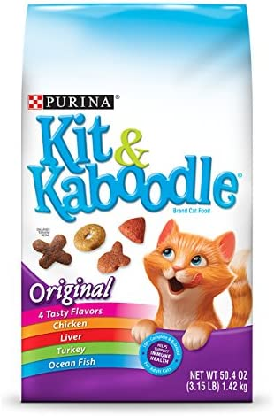 Purina Kit Kaboodle Original Adult Dry Cat Food - Six 6 3.15 Lb. Bags