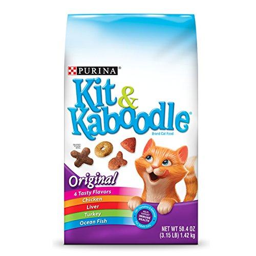 Purina Kit & Kaboodle Original Adult Dry Cat Food - Six (6) 3.15 Lb. Bags