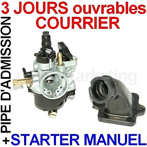 CARBURATEUR MANUEL PIPE D'ADMISSION pour PEUGEOT LUDIX SNAKE ONE BLASTER 2 II 50
