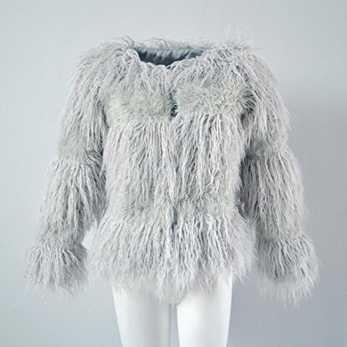 HP95(TM) New Fashion Womens Warm Faux Fur Coat Jacket Winter Parka Outerwear (XXL, Gray) by HP95(TM) (Image #4)