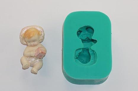 Sugarcraft caucho de silicona Moldes decoración de pasteles Moldes Oficios Icing isomalt pequeña bebé acostado.