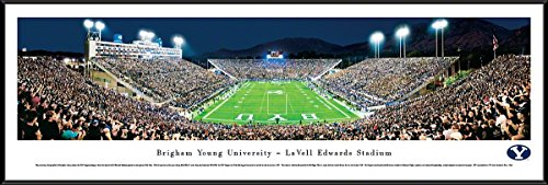 Brigham Young Football - End Zone - Blakeway Panoramas College Sports Posters with Standard ()