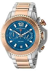 Swiss Legend Men's 'Scorpion' Quartz Stainless Steel Automatic Watch, Color:Two Tone (Model: 14019SM-SR-33)