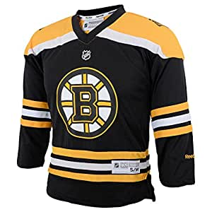 NHL Boston Bruins Replica Youth Jersey, Black, Small/Medium