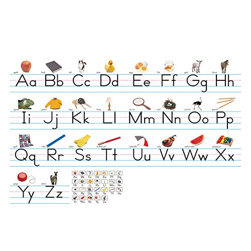 (NORTH STAR TEACHER RESOURCE Traditional Manuscript Alphabet Lines Bulletin Board Set)