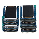 BQLZR Blue Mini 1.8'' Serial SPI TFT LCD Module Display with PCB Adapter ST7735B IC 128X160 Pixels Pack of 20