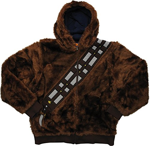 Star Wars Chewbacca Han Solo Reversible Hoodie Medium -