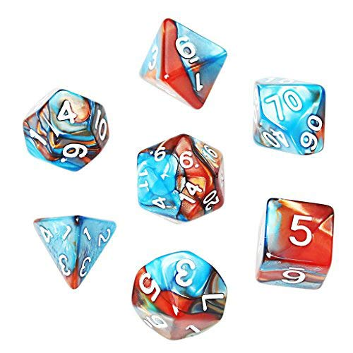 大勧め SUMAJU and Polyhedral 7-Die Perfect and Dice Sets,17 die Complete set of D4 D6 D8 D10 D12 D20 Perfect for Dungeons and Dragons and Math B0761PWXJ2, 加須市:ef025466 --- arianechie.dominiotemporario.com