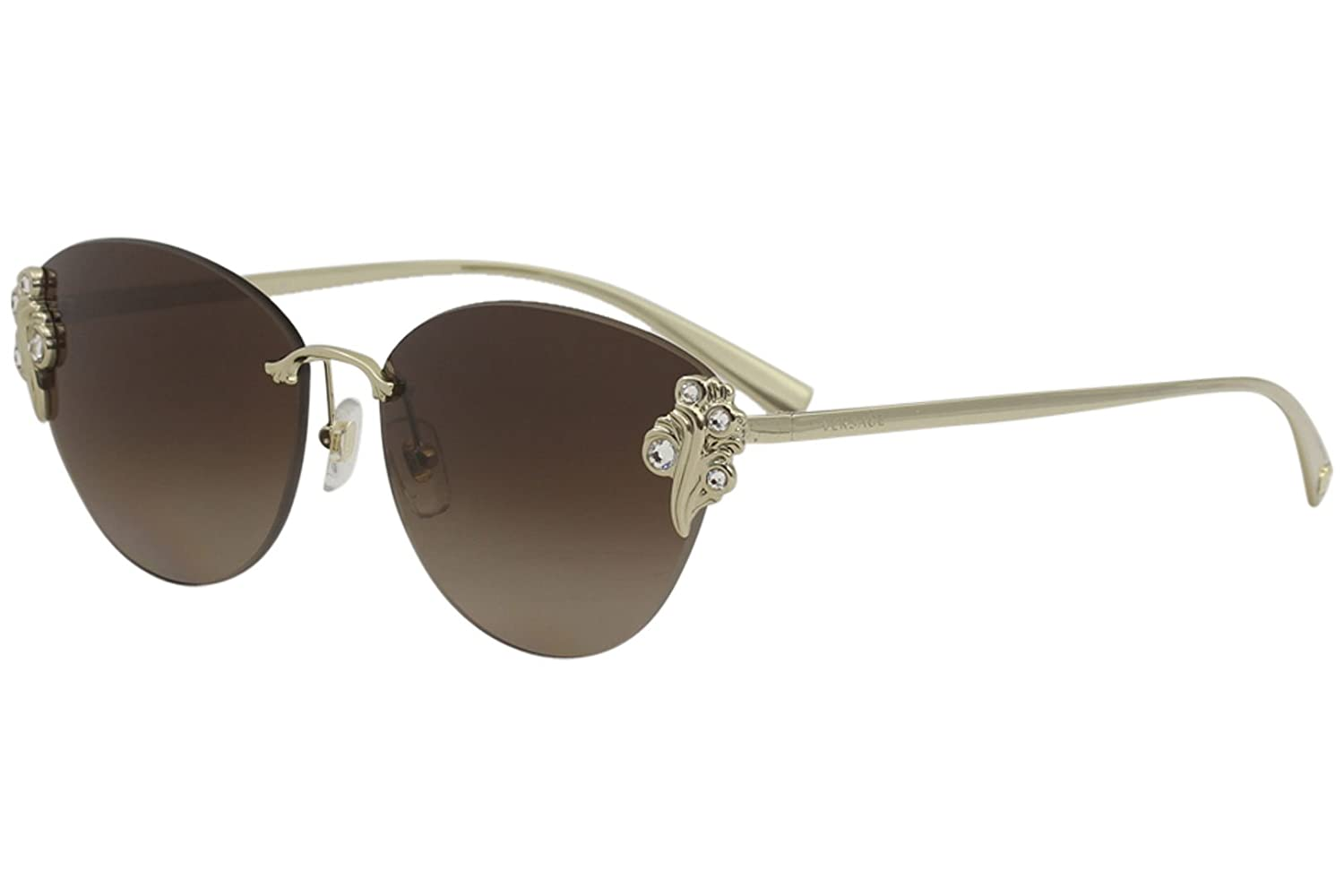 0ef355ee1a3 Amazon.com  Versace VE2196B Sunglasses 125213-58 - Pale Gold Frame ...