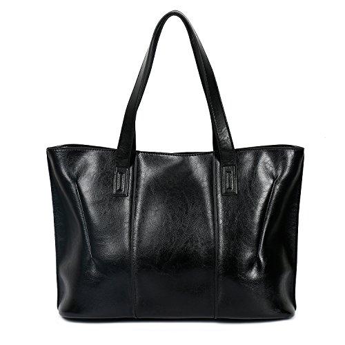 Ephraim Women PU Handbags Designer Shoulder Bag Casual Tote Bag Top Handle Bag for Ladies Black-a