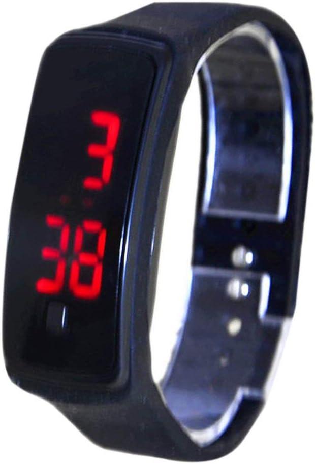 RQMQRL Deporte Led Reloj Digital Reloj De Pulsera De Caucho De Silicona Relojes Color Caramelo Moda Mujeres HombresReloj De PulseraImpermeable