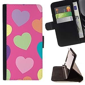 Momo Phone Case / Flip Funda de Cuero Case Cover - Motif Orange Violet - Apple Iphone 6