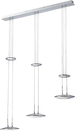 LED Hngeleuchte 3 Flammig Esszimmer Lampe Hhenverstellbar Hngelampe Pendelleuchte Glas Pendellampe Deckenlampe Wohnzimmer