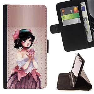 Momo Phone Case / Flip Funda de Cuero Case Cover - Manzana linda princesa - Sony Xperia Z3 D6603