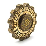 NANAHouse Solid Copper Gear Shape Viking Rune Mixed Ceramic Removable Bearing EDC Spinner Fidget Stress Relief Toys