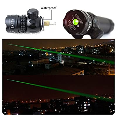 TZWNS Tactical Dot Sight Laser Pointer Pen Sight Flashlight Green Red Dot Rifle Hunting Gun Scope Picatinny Rail Weaver Barrel Mount Pressure Switch Power 532nm Beam