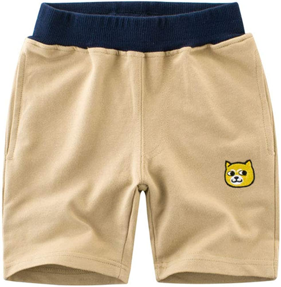 HAXICO Kids Baby Boys Soft Cotton Carton Loose Pull-on Summer Sport Jogger Active Pants Beach Shorts