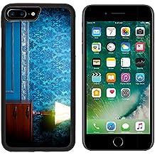 MSD Premium Apple iPhone 7 Plus Aluminum Backplate Bumper Snap Case Vintage lamp in retro blue toned interior Rococo fashion decor Rustic wallpapper Luxurt concept IMAGE 29680660