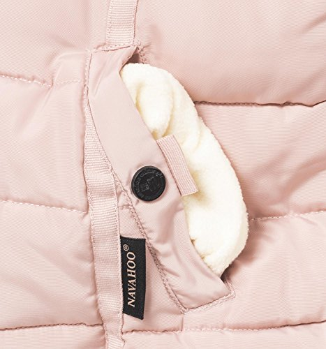 Giacca Pelliccia Con Navahoo xl Donna 9 Invernale Da Rosa Colori In Trapuntata Xs Cappuccio Sintetica Miamor dppBqw
