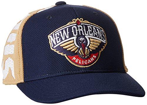 NBA New Orleans Pelicans Men's City Name Meshback Flex Fit Hat, Navy, Large/X-Large