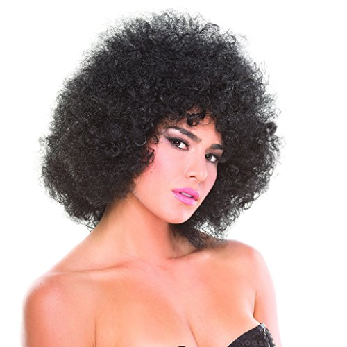 Black Solid Color Foxy Afro ()