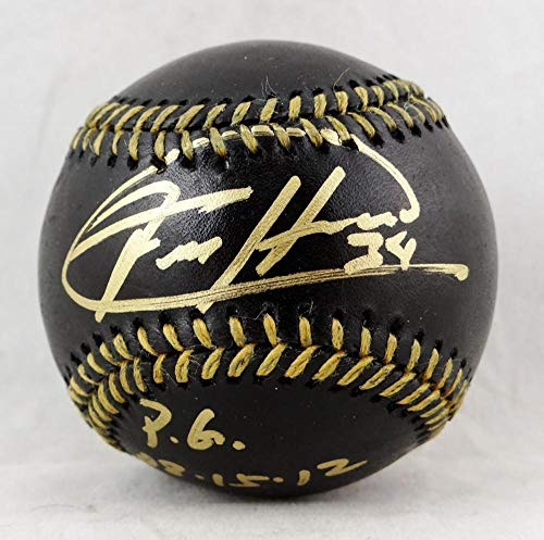 - Felix Hernandez Autographed Black Rawlings OML Baseball w/PG 8.15.12 - JSA W Auth Gold