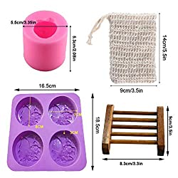 Xiangfeng 2 Pack Silicone 4 Cavities Soap Mold Owl